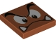 Part No: 3068bpb1373  Name: Tile 2 x 2 with Groove with Goomba Face Angry, Looking Down Pattern