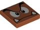 Part No: 3068bpb1374  Name: Tile 2 x 2 with Groove with Goomba Face Angry Pattern
