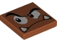 Part No: 3068bpb1375  Name: Tile 2 x 2 with Groove with Goomba Face Eyebrow Raised Pattern