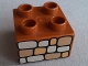 Part No: 3437pb018  Name: Duplo, Brick 2 x 2 with Stone Wall Pattern