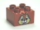 Part No: 3437pb048  Name: Duplo, Brick 2 x 2 with Chipmunk Head with One Tooth Pattern (Chip)