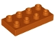 Part No: 40666  Name: Duplo, Plate 2 x 4 x 1/2 (Thick)