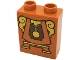 Part No: 4066pb483  Name: Duplo, Brick 1 x 2 x 2 with Cogsworth Clock Body Pattern
