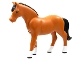 Part No: 6171pb03  Name: Horse, Belville with Black Mane and Tail and White Blaze and Feet Pattern