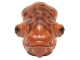 Part No: 64808pb02  Name: Minifigure, Head Modified SW Mon Calamari with Small Reddish Brown Skin Texture and Orange and Black Eyes with Eyelids Pattern
