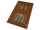 Part No: 69934pb011  Name: Tile, Modified 10 x 16 with Studs on Edges and Bar Handles with Brick Walls and Stained Glassed Windows Pattern (Stickers) - Set 76382