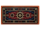 Part No: 87079pb0243  Name: Tile 2 x 4 with Dark Blue, Black and Dark Red Oriental Rug Pattern (Sticker) - Set 70732