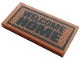 Part No: 87079pb0834  Name: Tile 2 x 4 with 'WELCOME HOME' and Black Dots Pattern (Sticker) - Set 60141