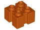 Part No: 90258  Name: Brick, Modified 2 x 2 with Grooves and Axle Hole