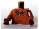 Part No: 973pb0469c01  Name: Torso Tattoos with Animal Tooth Necklace Pattern / Dark Orange Arms / Reddish Brown Hands