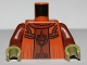 Part No: 973pb1056c01  Name: Torso SW Neimoidian Viceroy Robe Pattern / Reddish Brown Arms / Olive Green Hands