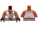 Part No: 973pb2131c01  Name: Torso SW Resistance Pilot Flight Suit with Straps and Black Hose Pattern / Dark Orange Arms / Black Hands