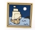 Part No: 3068bpb0408  Name: Tile 2 x 2 with Groove with Sailing Ship and Moon Pattern