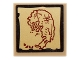 Part No: 3068bpb0690  Name: Tile 2 x 2 with Groove with Map Island with Dark Red Outline Pattern (Sticker) - Set 70732
