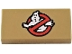 Part No: 3069bpb0655  Name: Tile 1 x 2 with Groove with Ghostbusters Logo Pattern (BrickHeadz Peter Venkman Sleeve)
