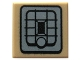 Part No: 3070bpb090  Name: Tile 1 x 1 with Groove with Black and Dark Bluish Gray SW Rebel Alliance Jet Pack Pattern