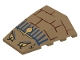 Part No: 47753pb022  Name: Wedge 4 x 4 No Top Studs with Bricks, Blue Lines, 4 Eyes and Cobra Pattern (Scorpion Head)