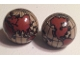Part No: 61287c01pb03  Name: Cylinder Hemisphere 2 x 2 with Reddish Brown Globe Pattern