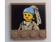 Part No: 6179pb061  Name: Tile, Modified 4 x 4 with Studs on Edge with Minifigure Painting Pattern (Sticker) - Set 60008
