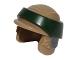 Part No: 64803pb02  Name: Minifigure, Headgear Helmet SW Rebel Commando with Dark Green Band Pattern