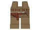 Part No: 970c00pb0040  Name: Hips and Legs with Indiana Jones Belts and Holster Pattern