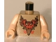Part No: 973pb0122c01  Name: Torso Harry Potter Durmstrang Stag Coat of Arms Pattern / Light Flesh Arms / Light Flesh Hands