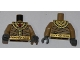 Part No: 973pb0796c01  Name: Torso Pharaoh's Quest Bandage Wrapping with Gold Necklace and Gold Belt Pattern (Amset-Ra) / Dark Tan Arms / Dark Bluish Gray Hands