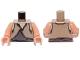 Part No: 973px59bc01  Name: Torso SW Gungan Dark Bluish Gray / Light Brown Shirts Front and Back Pattern / Nougat Arms / Nougat Hands