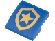 Part No: 15068pb295  Name: Slope, Curved 2 x 2 with Police Gold Star Badge on Blue Background Pattern (Sticker) - Set 60271