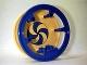 Part No: 2198c01pb01  Name: Duplo Playground Circus Wheel with Blue Swirl Pattern