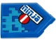 Part No: 22385pb185  Name: Tile, Modified 2 x 3 Pentagonal with Blue 'ninja' and White Minus Sign on Red Circle Pattern (Sticker) - Set 71711