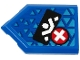 Part No: 22385pb186  Name: Tile, Modified 2 x 3 Pentagonal with White Ninja Silhouette on Black Rectangle and White Plus Sign on Red Circle Pattern (Sticker) - Set 71711