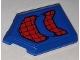 Part No: 22385pb204  Name: Tile, Modified 2 x 3 Pentagonal with Black Webbing on Blue Background Pattern (Sticker) - Set 76151