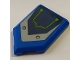 Part No: 22385pb206  Name: Tile, Modified 2 x 3 Pentagonal with Dark Blue and Silver Hull Plates and Lime Circuitry Pattern (Sticker) - Set 70320