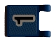 Part No: 2335pb033  Name: Flag 2 x 2 Square with Black Number 1 on Blue Background Pattern (Sticker) - Sets 3420 / 3425