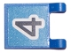 Part No: 2335pb036  Name: Flag 2 x 2 Square with Black Number 4 on Blue Background Pattern (Sticker) - Sets 3420 / 3425