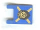Part No: 2335pb068  Name: Flag 2 x 2 Square with Lion Head and Yellow X on Blue Background Pattern (Sticker) - Set 10176