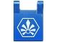 Part No: 2335pb127  Name: Flag 2 x 2 Square with White Chima Logo in Hexagon Pattern (Sticker) - Set 70010