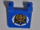 Part No: 2335pb202  Name: Flag 2 x 2 Square with Gold Ninjago Lightning Power Emblem Pattern on Both Sides (Stickers) - Set 70731