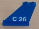 Part No: 2340pb026L  Name: Tail 4 x 1 x 3 with White 'C 26' on Blue Background Pattern on Left Side (Sticker) - Set 4022