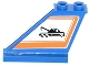 Part No: 2340pb049L  Name: Tail 4 x 1 x 3 with Tow Truck in Orange Border Pattern on Left Side (Sticker) - Set 60056