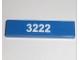 Part No: 2431pb145  Name: Tile 1 x 4 with White '3222' Pattern (Sticker) - Set 3222