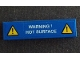 Part No: 2431pb575  Name: Tile 1 x 4 with Exclamation Mark in Warning Triangle and 'WARNING! HOT SURFACE' Pattern (Sticker) - Set 42042