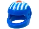 Part No: 2446pb35  Name: Minifigure, Headgear Helmet Motorcycle (Standard) with Stripes and Red Star Pattern