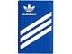 Part No: 26603pb169  Name: Tile 2 x 3 with White Adidas Logo and 3 Stripes Pattern (Sticker) - Set 40486