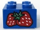 Part No: 3003pb016  Name: Brick 2 x 2 with Strawberries Pattern (Sticker) - Set 4165