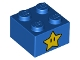 Part No: 3003pb121  Name: Brick 2 x 2 with Yellow Star with Black Oblong Eyes Pattern on Two Sides