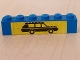 Part No: 3009pb063  Name: Brick 1 x 6 with Black Car on Yellow Background Pattern (Sticker) - Set 6363