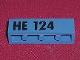 Part No: 3010pb011  Name: Brick 1 x 4 with Black 'HE 124' Pattern