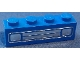 Part No: 3010pb035e  Name: Brick 1 x 4 with Car Grille Chrome Pattern (Embossed Print)